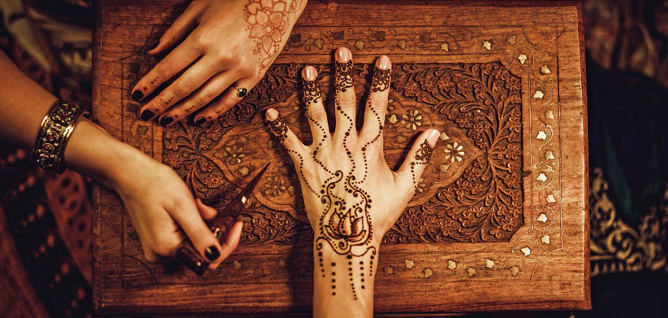henna tattoo on a hand