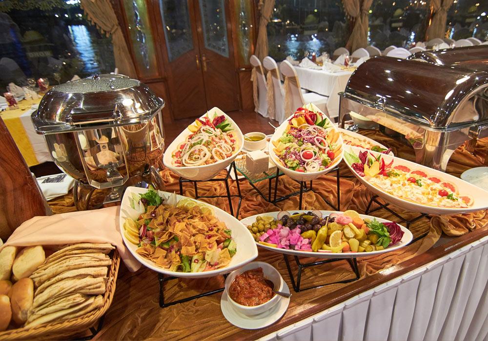 Lavish Buffet spread on Al Wasl Dhow Cruise