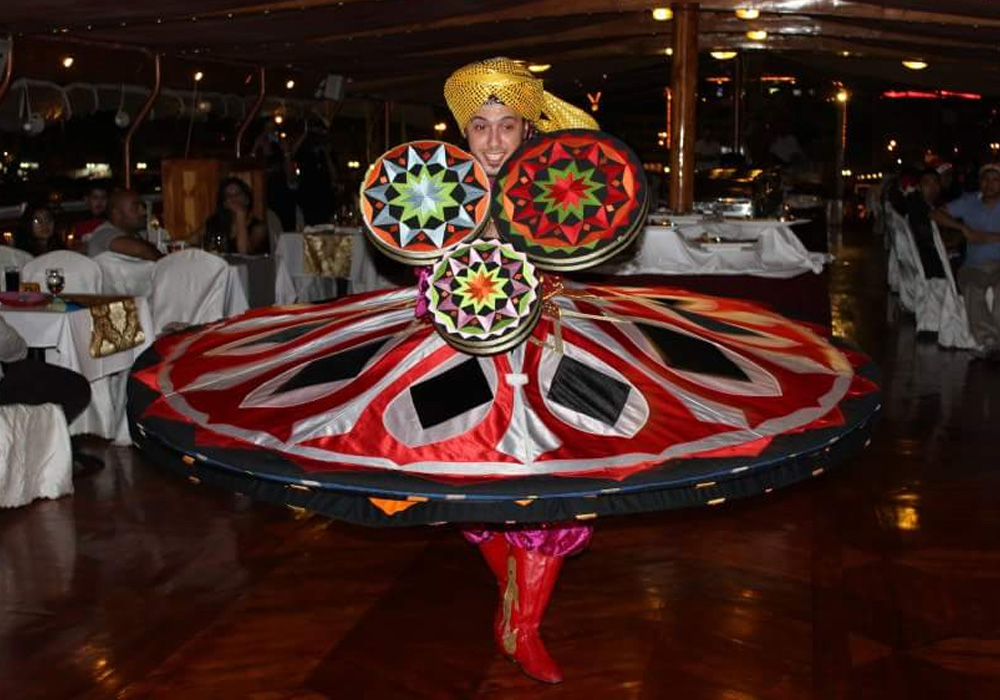 Traditional Tanoura dance performance in Al Wasl Dhow Cruise