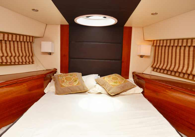 Beautiful Bedrooms in 50 Feet Yacht