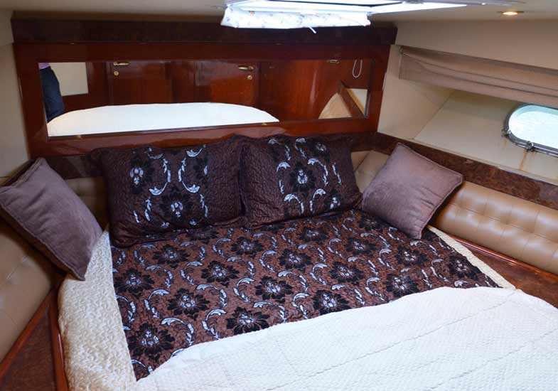 Lavish Bedrooms in 55 Feet Yacht