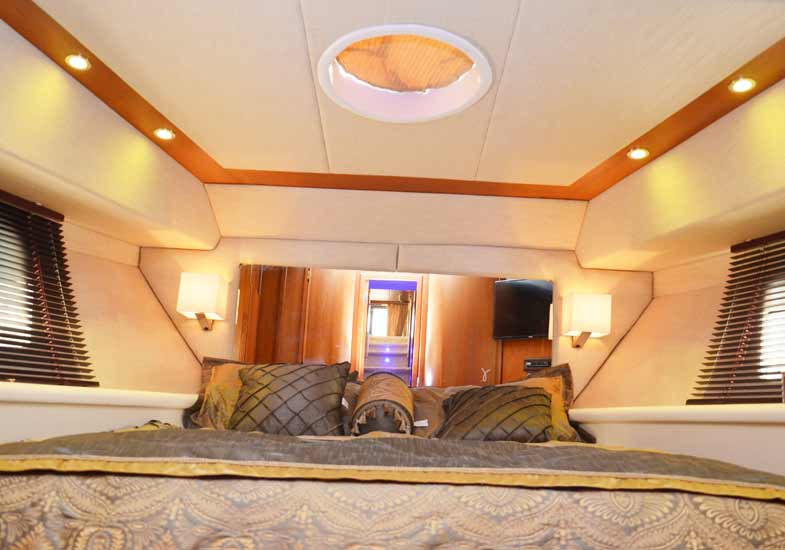Beautiful Master Bedrooms in 70 Feet Yacht