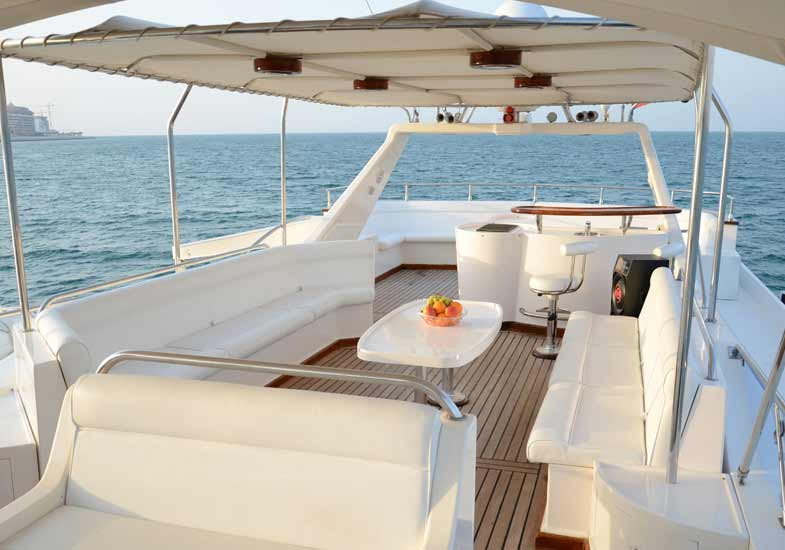 Beautiful Drawing Rooms of Luxury Yachts in Dubai