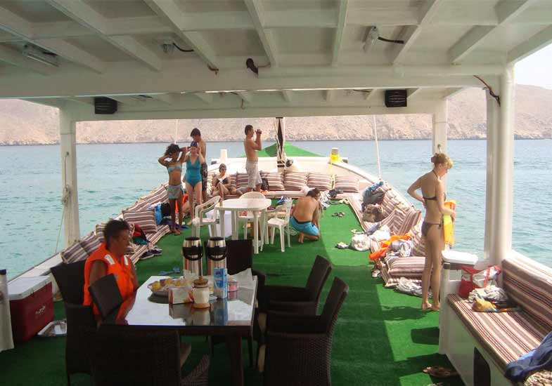 Luxurious Musandam Dibba Boat gives visitor royal feeling