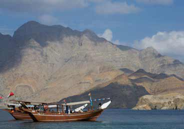 One day tour of Musandam Khasab allows visitors to explore historical Telegraph and clear water