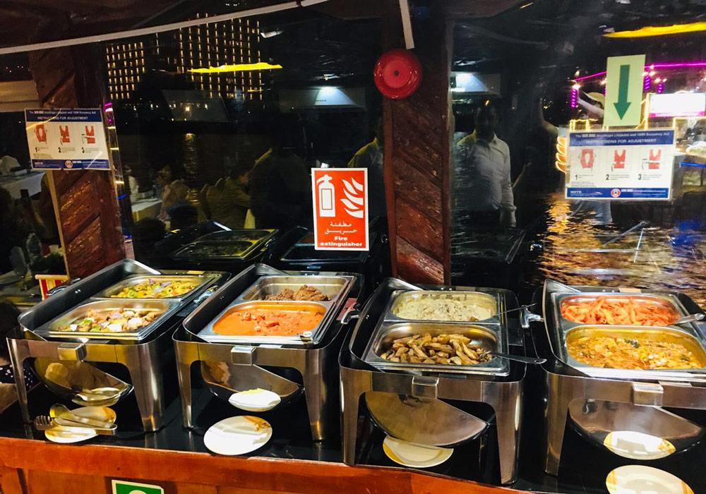 Enjoy an international buffet in Dubai Creek